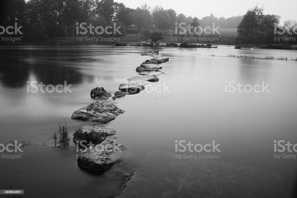 Stepping stones 3 stock photo
