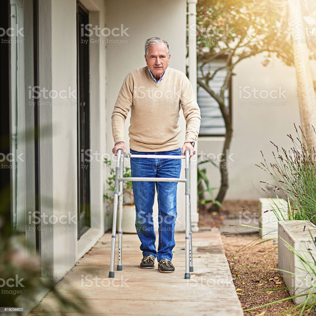 Stepping towards recovery stock photo