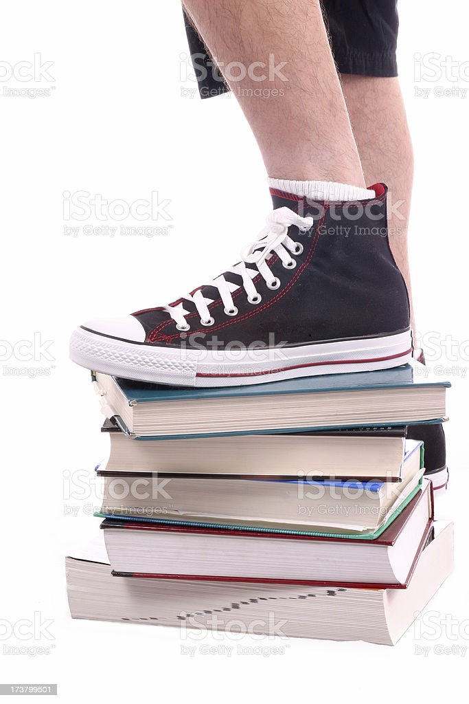 Stepping Up To School Work royalty-free stock photo