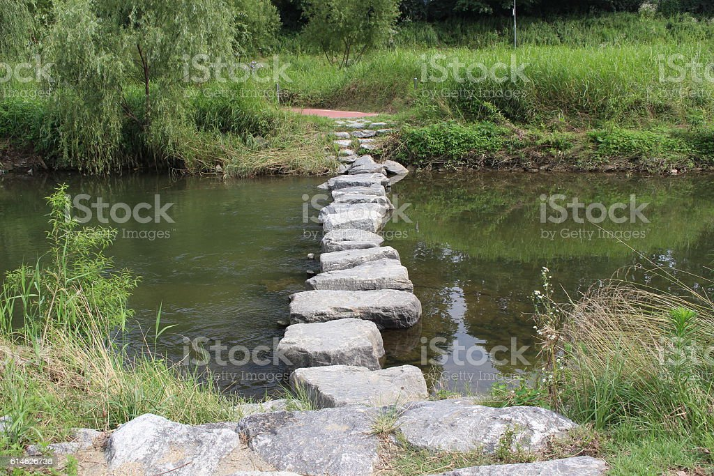 steppingstone stock photo