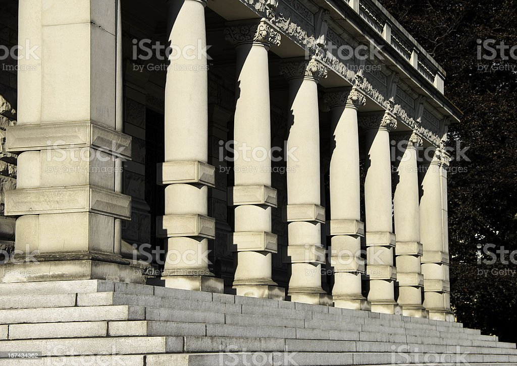 Steps and columns at governmental building royalty-free stock photo