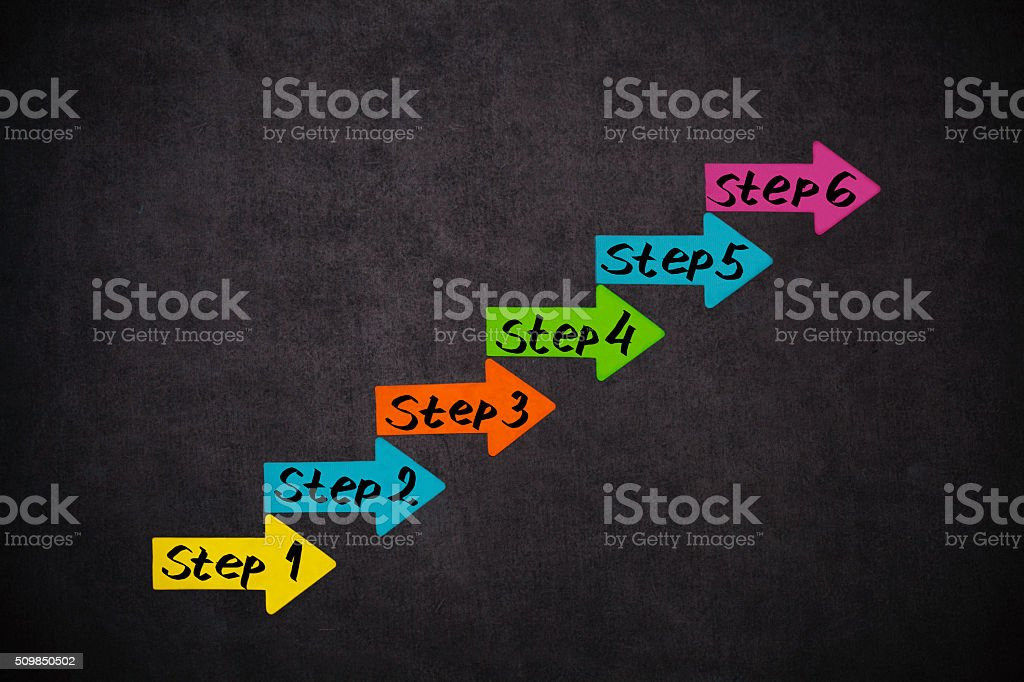 Steps and place for your content stock photo
