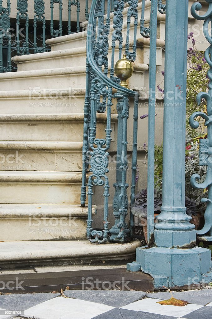 Steps and Staircase Detail, Fancy Old Iron stock photo