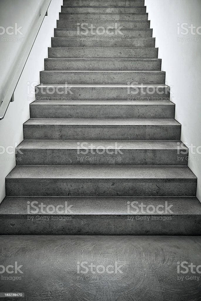 Steps at a modern architecture house stock photo