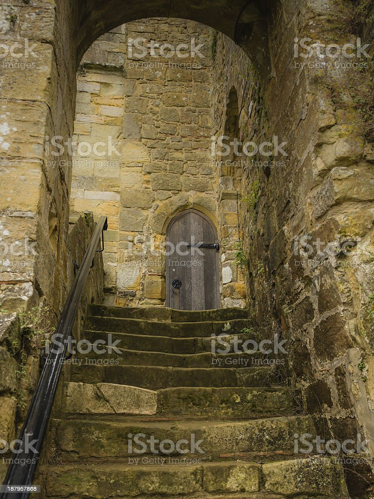 Steps at Battle Abbey Hastings stock photo
