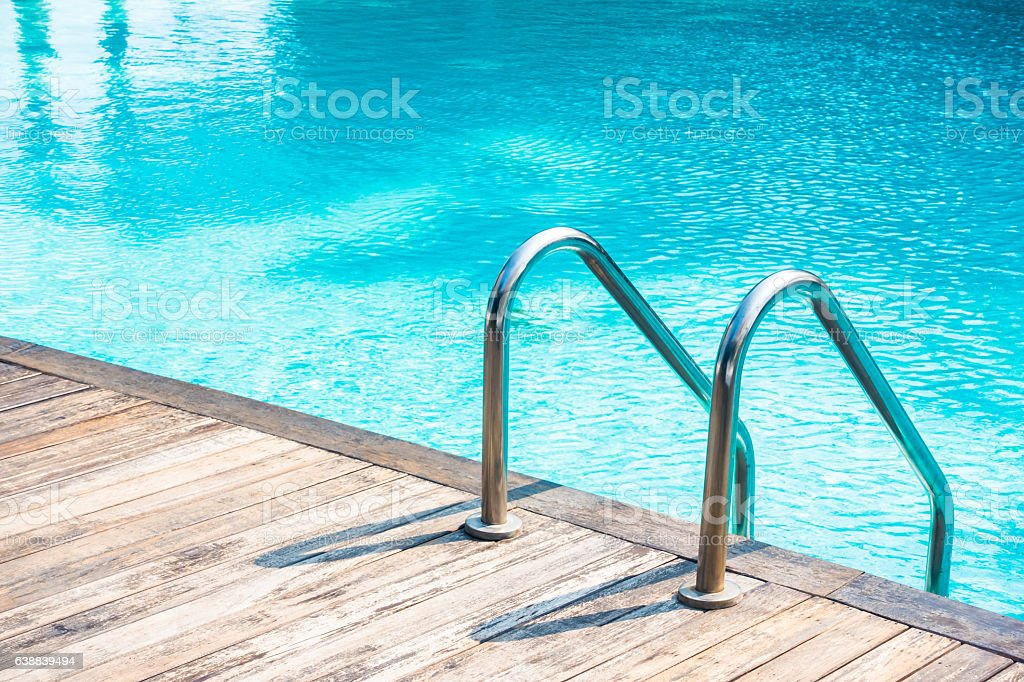 Steps At Poolside stock photo