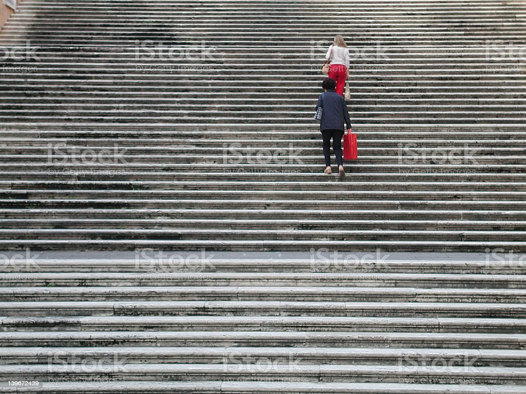Steps at the Capitoline Hill (Campidoglio), Rome, Italy royalty-free stock photo