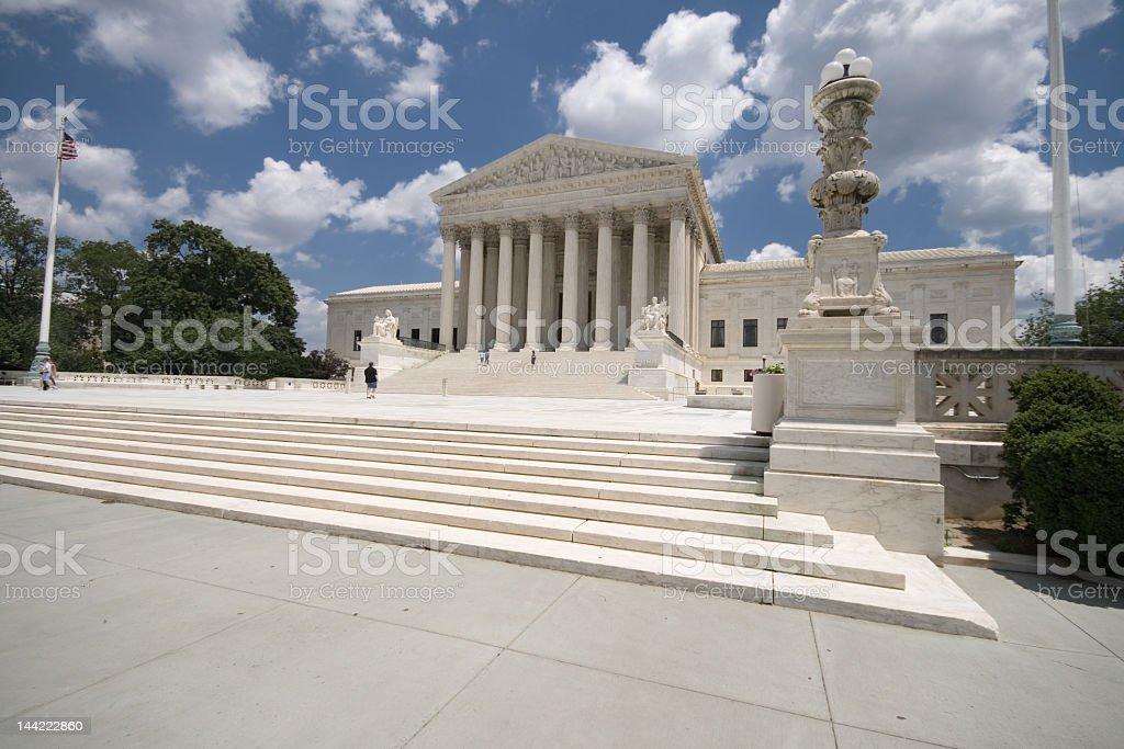 Steps Facade of American Supreme Court Building, Washington DC royalty-free stock photo