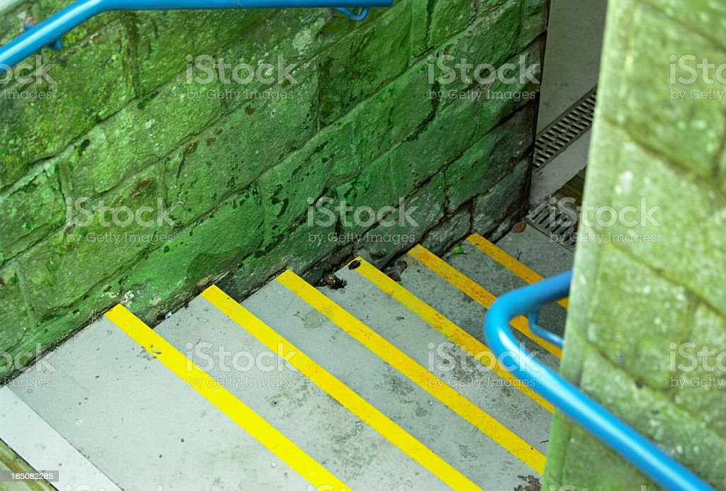 Steps going down stock photo