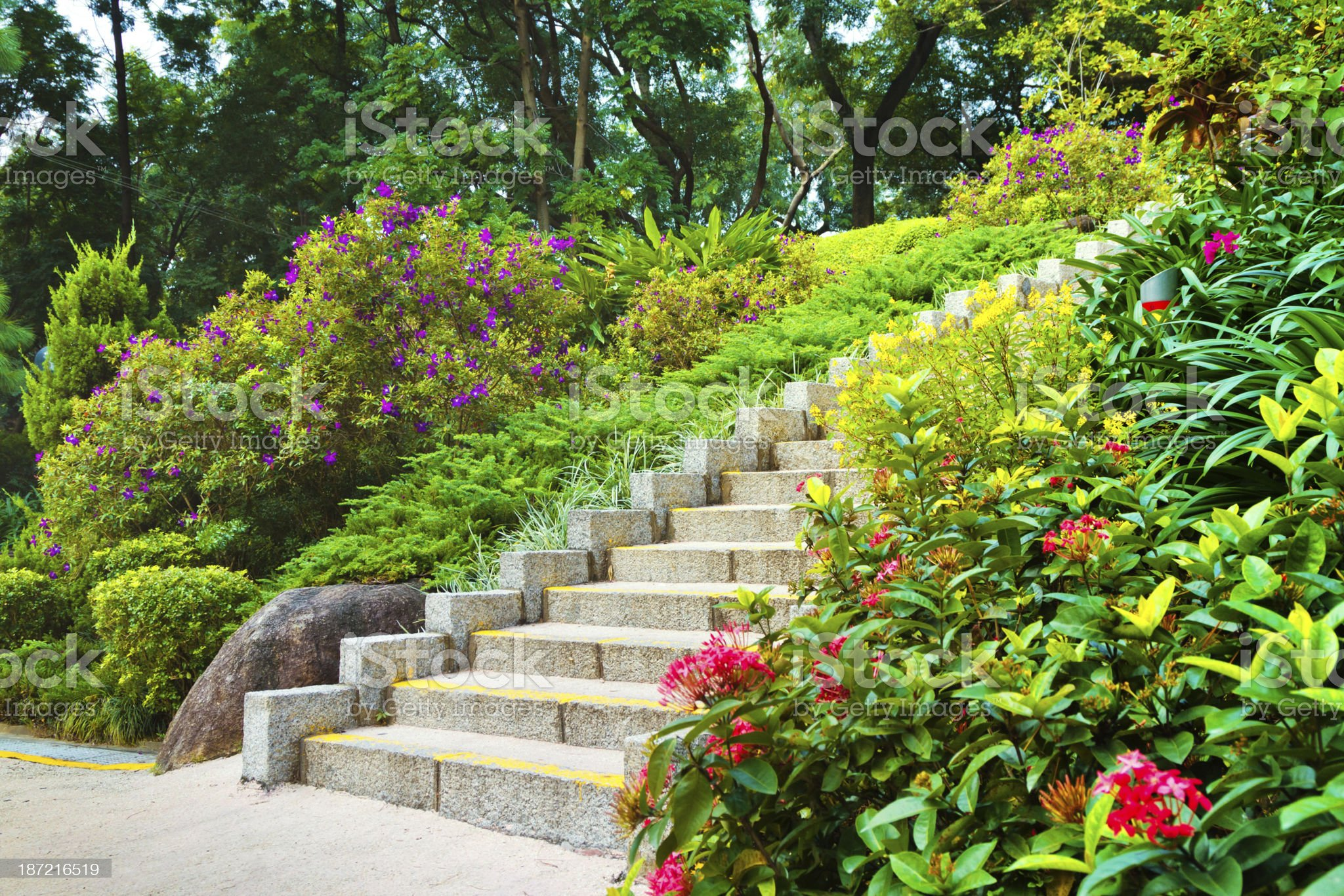 Steps in City Park royalty-free stock photo
