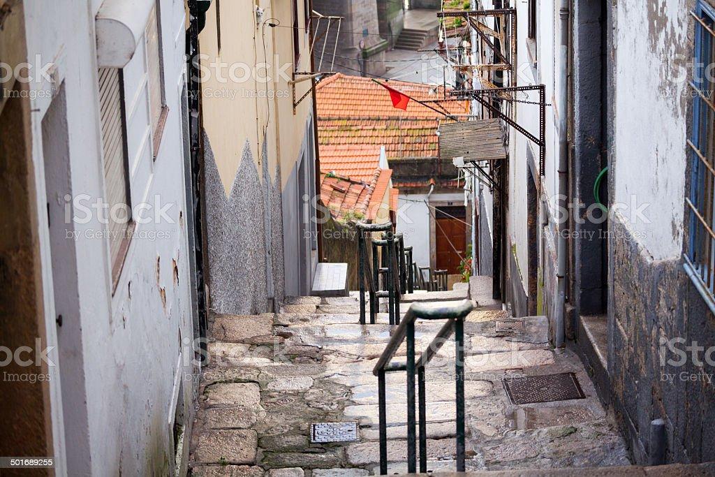 Steps in Porto stock photo