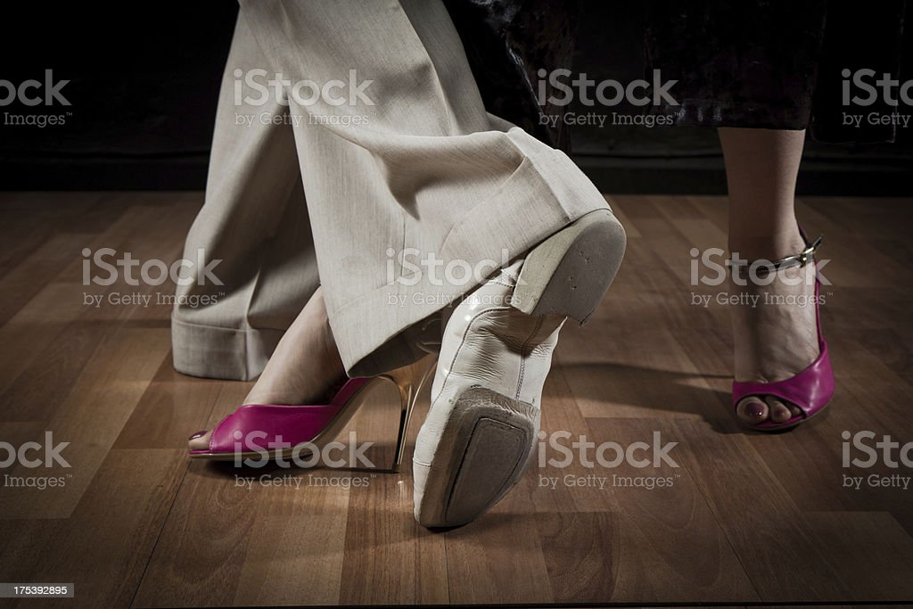 Steps in Tango royalty-free stock photo