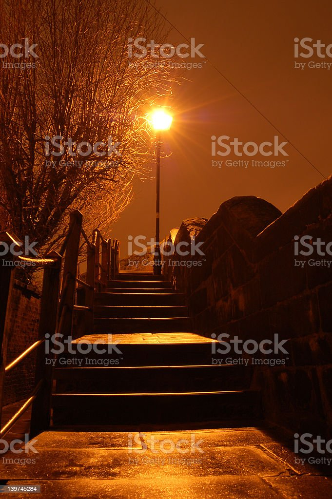 Steps In The Dark royalty-free stock photo