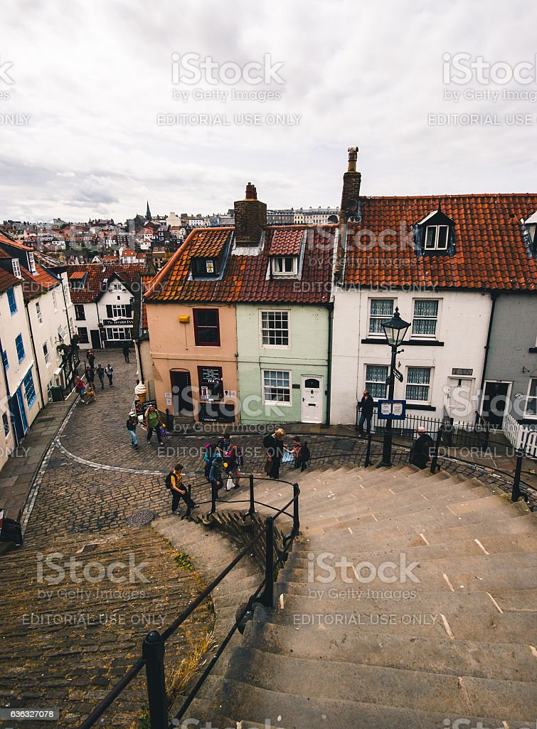 199 Steps in Whitby stock photo