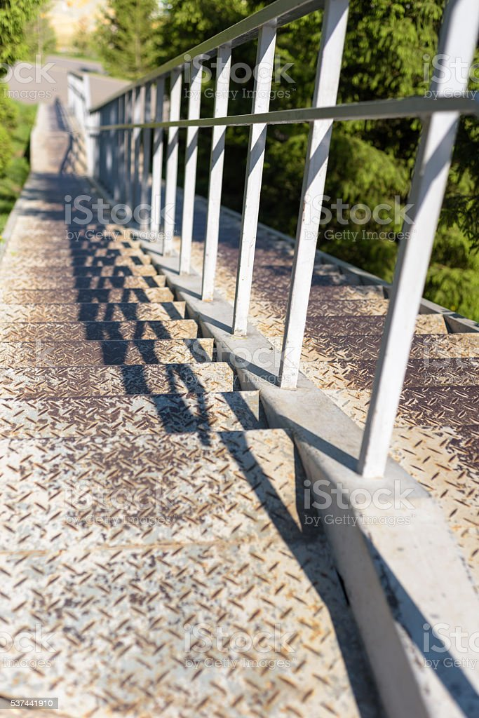 Steps Leading Down stock photo