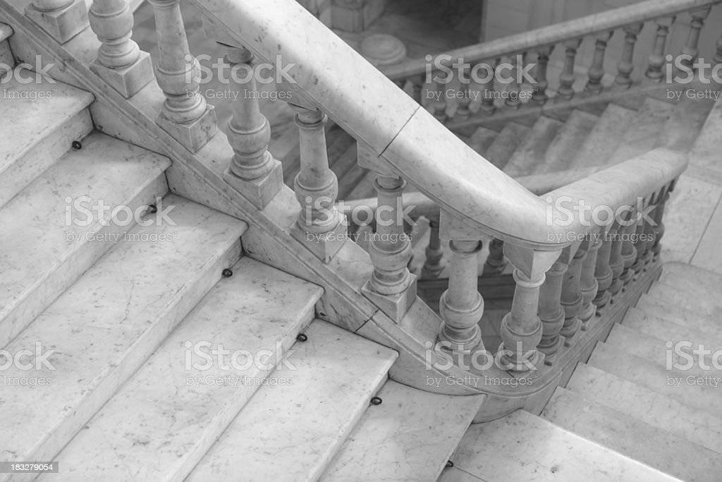 Steps of an Old Building, Colonial architecture in Havana, Cuba stock photo