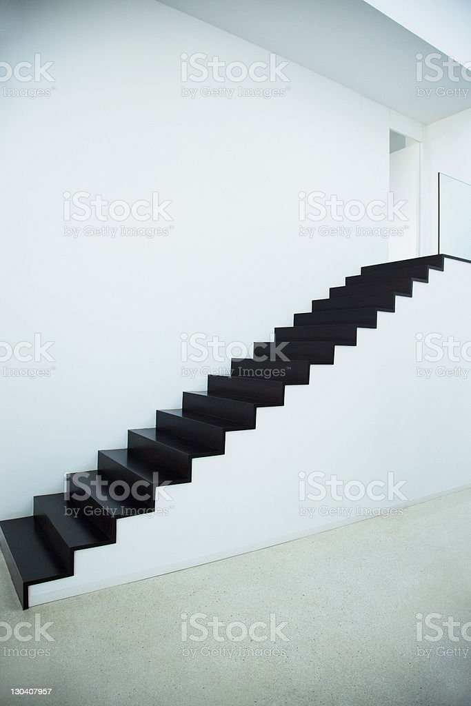 Steps of modern house royalty-free stock photo