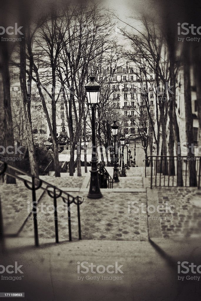 Steps of Montmartre, Paris royalty-free stock photo