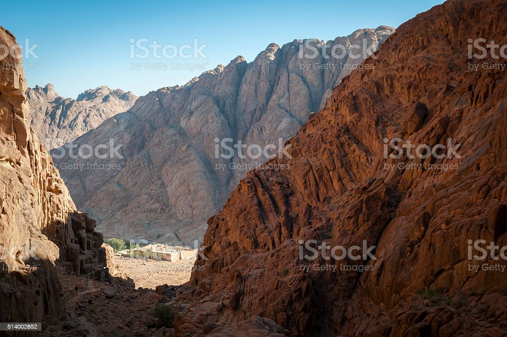 Steps of Penitence to St. Catherine's Monastery, Egypt stock photo
