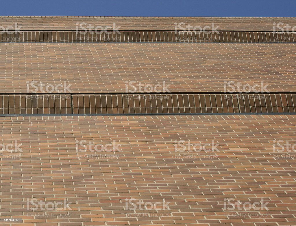 Steps of Red Brick Walls royalty-free stock photo