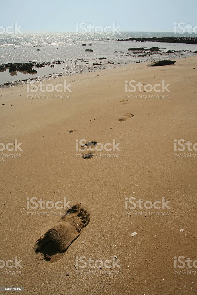 steps on sand royalty-free stock photo