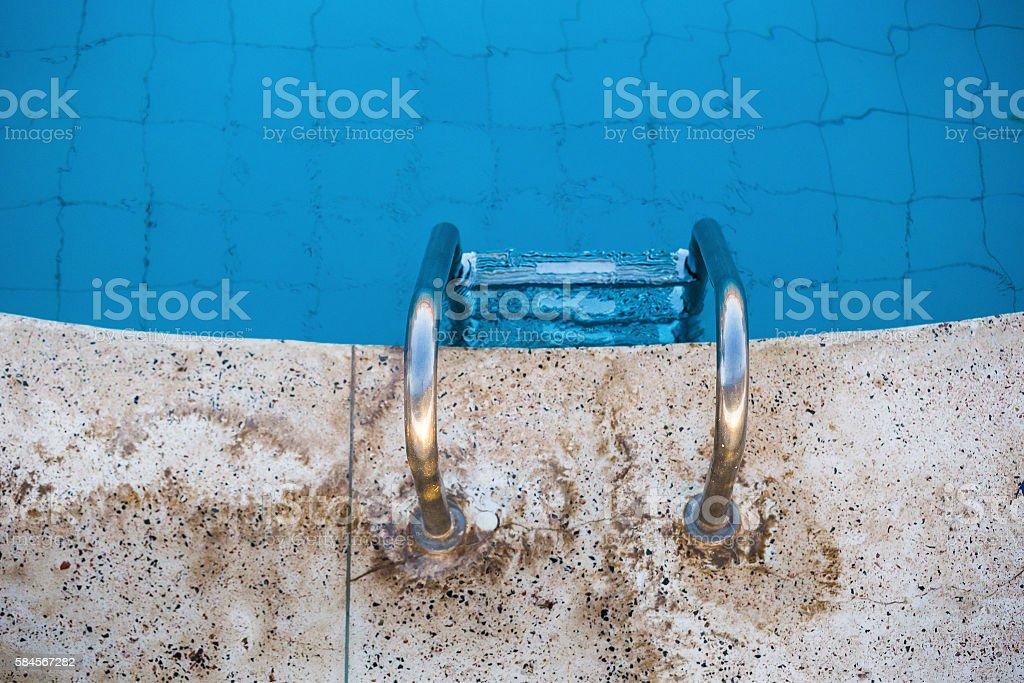 steps swimming pool stock photo