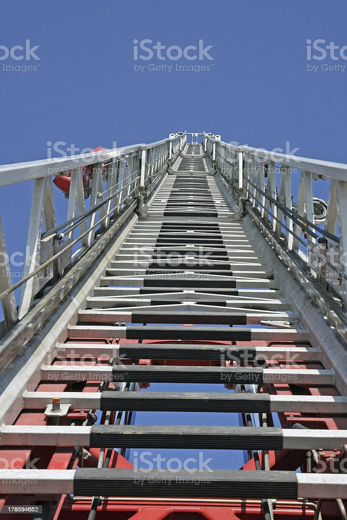 steps to Heaven by a fire truck royalty-free stock photo