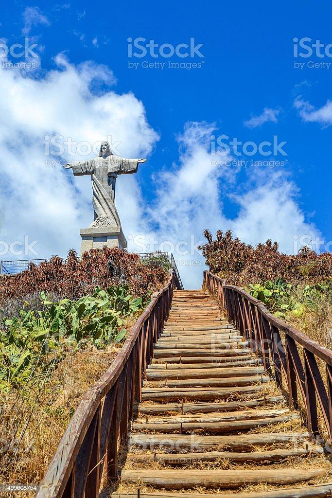 Steps to Jesus. Garajau stock photo