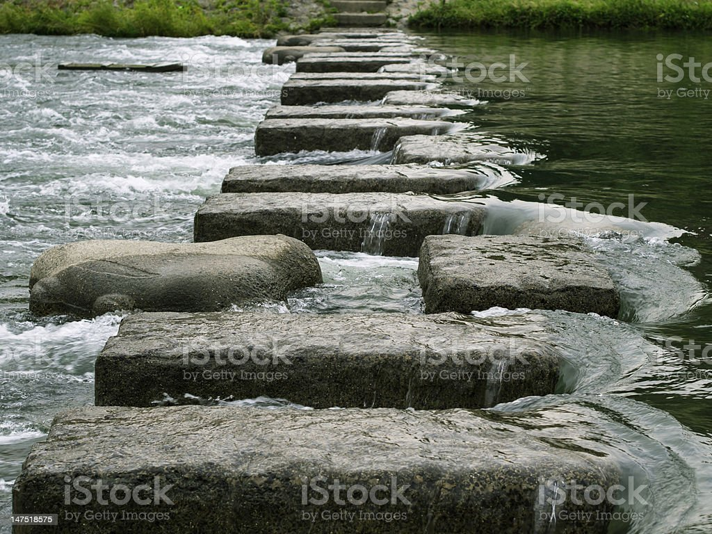 Steps to the Goal royalty-free stock photo
