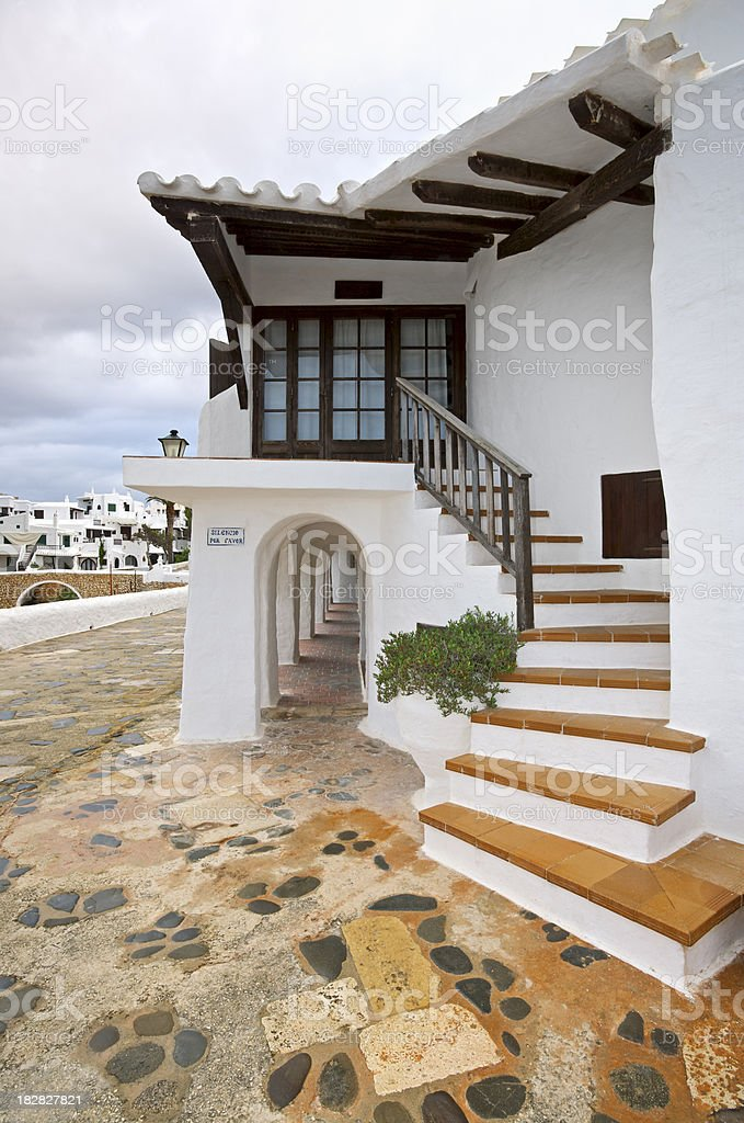 steps up to the front entrance royalty-free stock photo