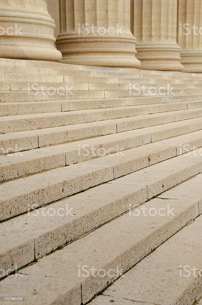 Steps with a row of columns royalty-free stock photo