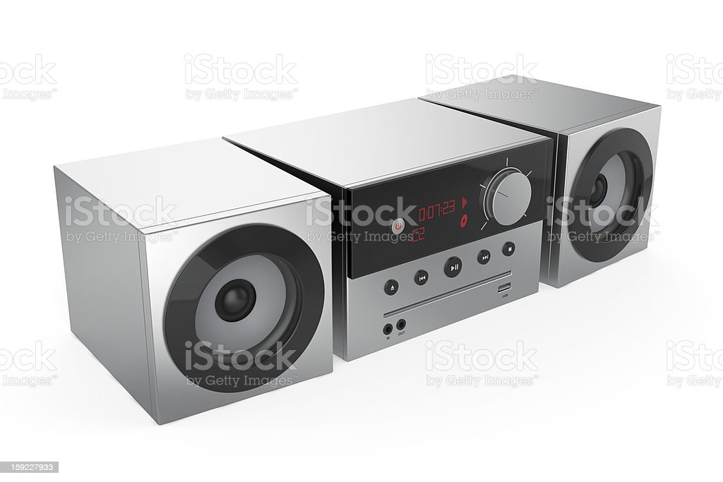 Stereo audio system royalty-free stock photo