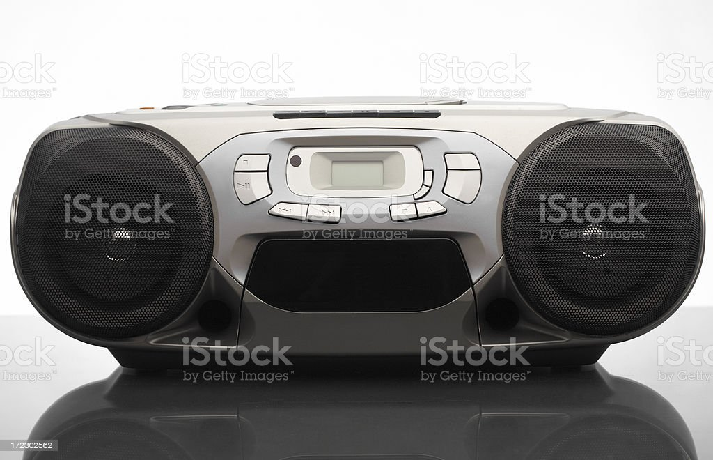 Stereo BoomBox royalty-free stock photo