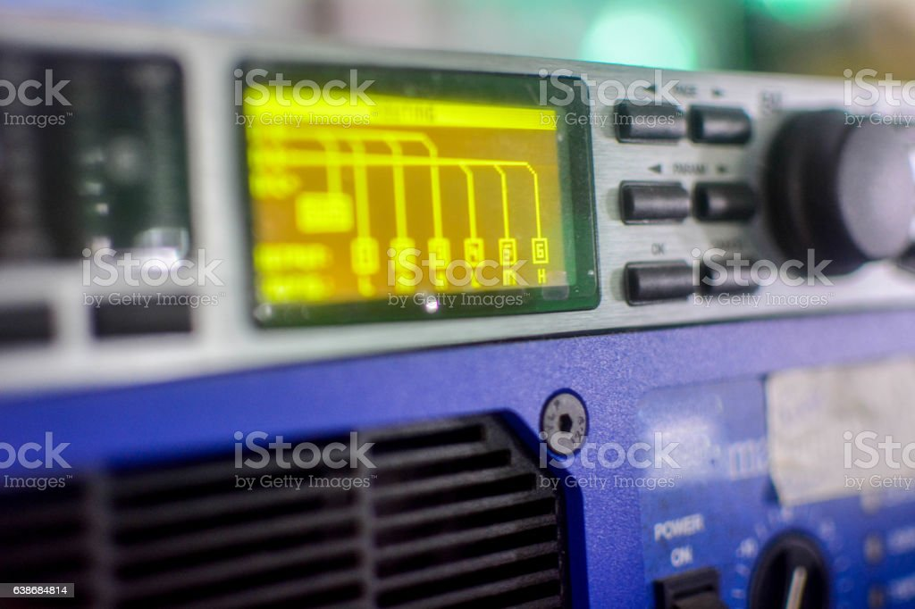 stereo for music stock photo