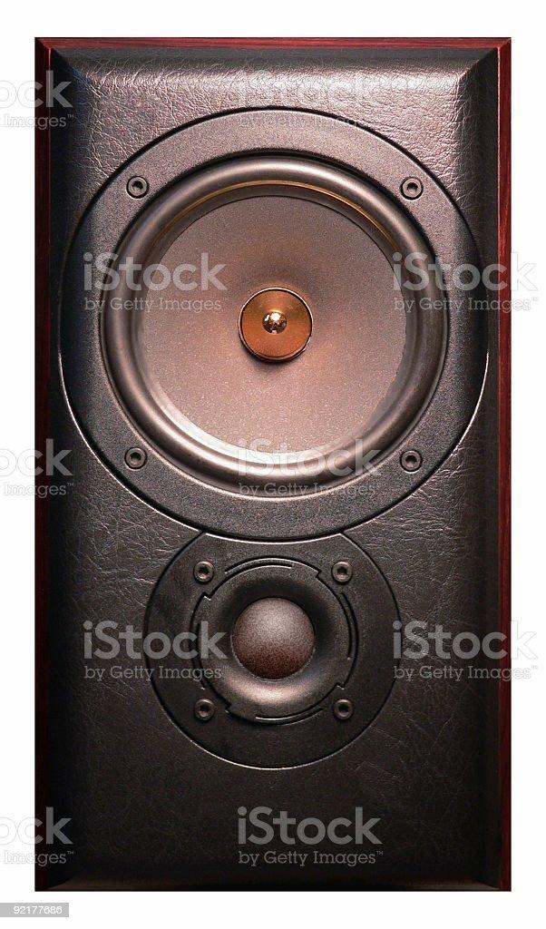 Stereo Hi Fi Loud Speaker cone stock photo