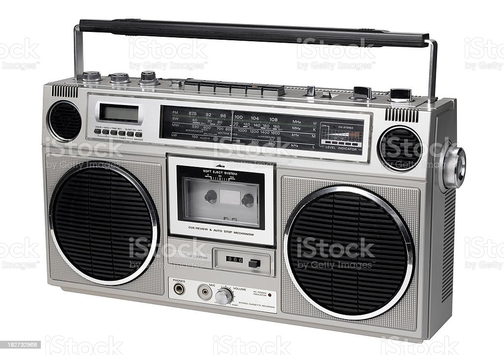 stereo looking right stock photo