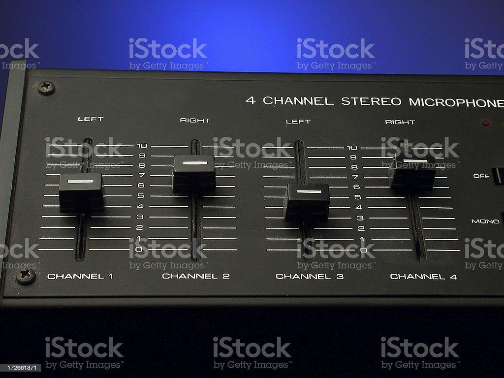 Stereo Mixer royalty-free stock photo