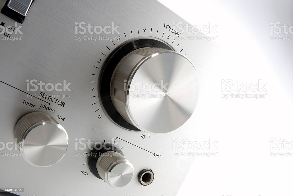 Stereo panel stock photo