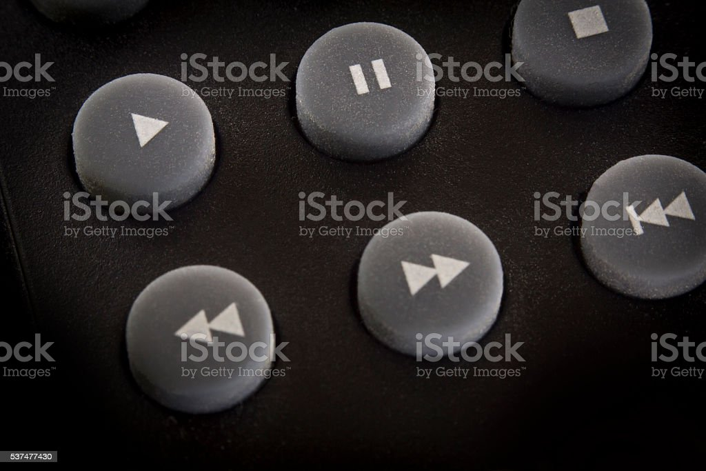 Stereo Play Button stock photo