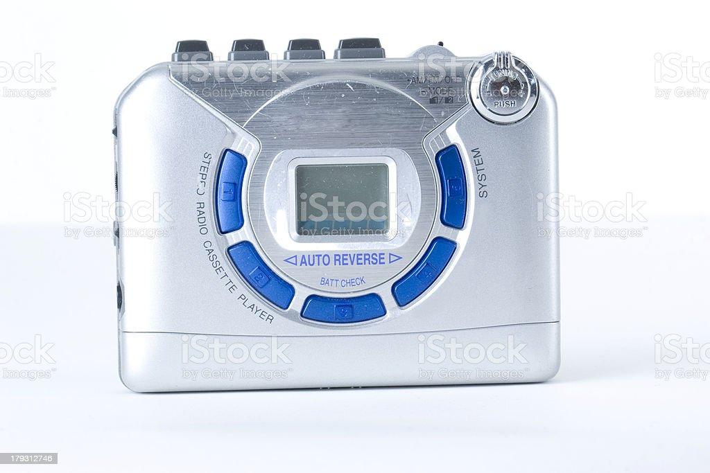 Stereo radio cassette player stock photo