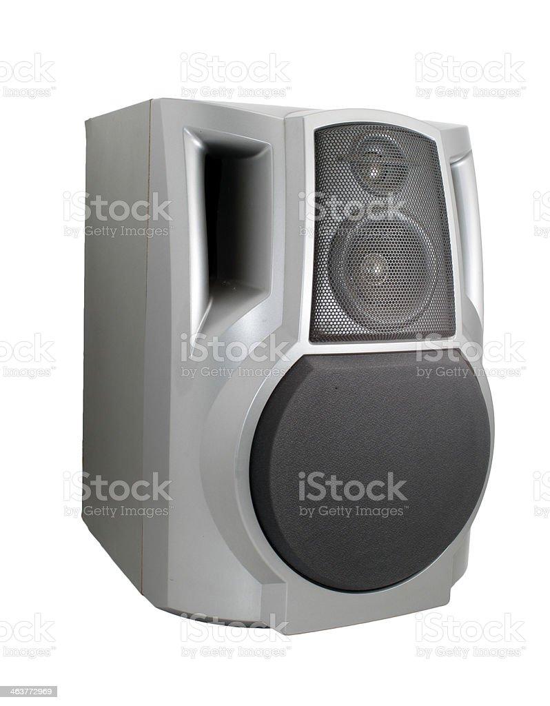 Stereo speaker isolated on white stock photo