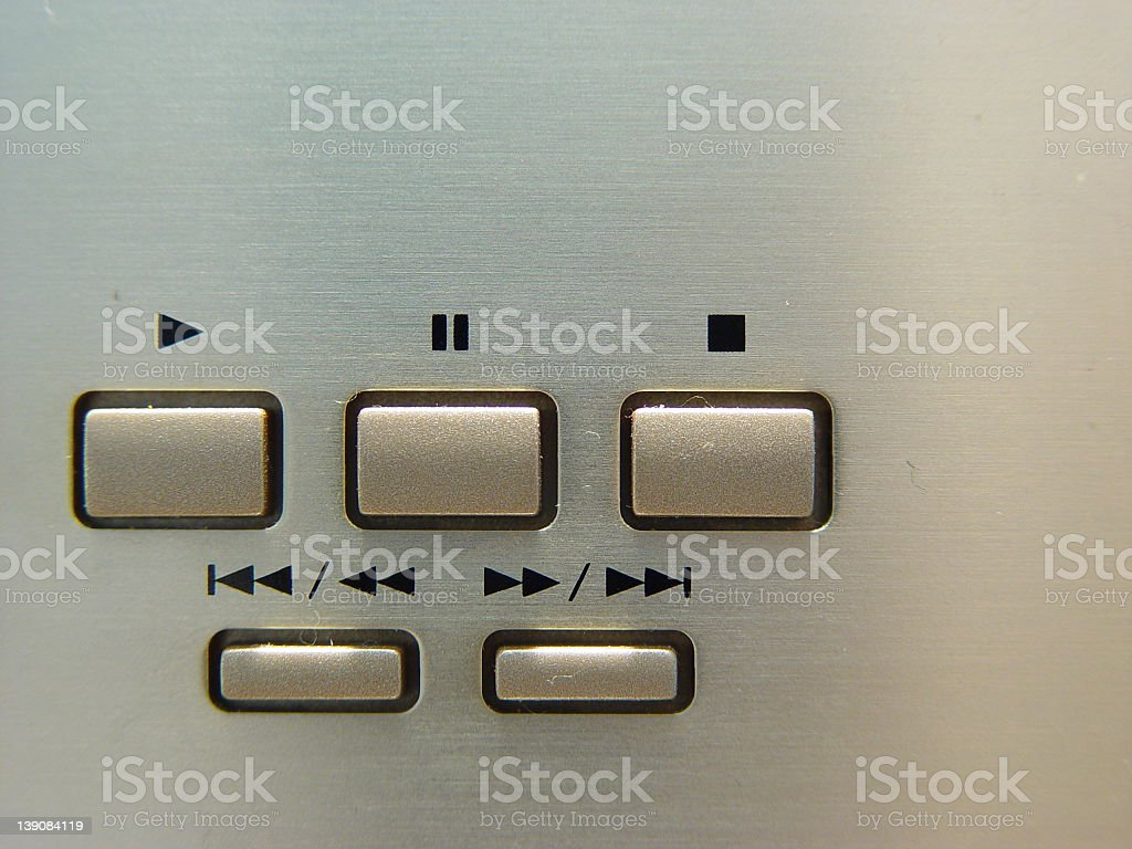 Stereo System Control stock photo