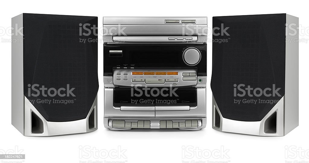 Stereo System stock photo