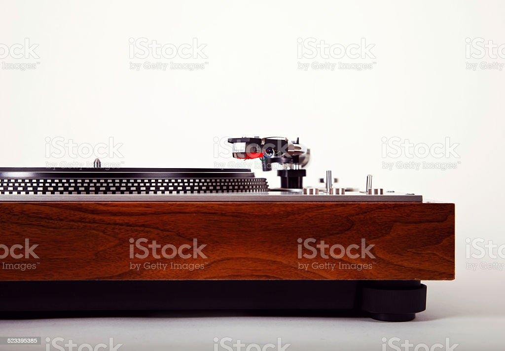 Stereo Turntable Vinyl Record Player Analog Retro Vintage stock photo