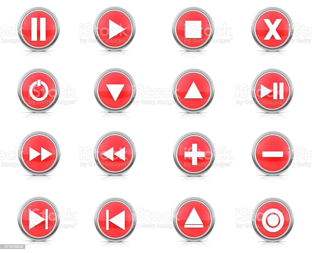 Stereo & Video Buttons royalty-free stock photo