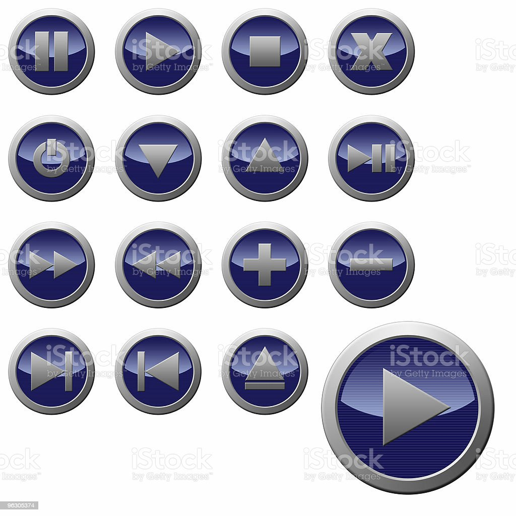 Stereo & Video Buttons stock photo