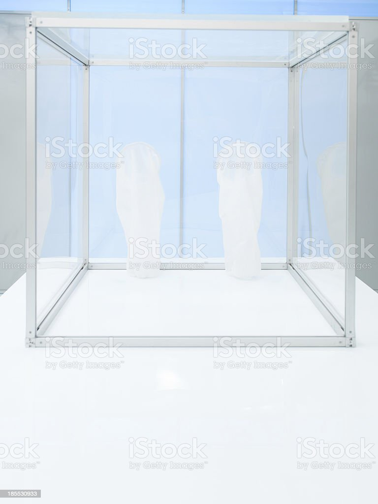 sterile chamber inside a lab royalty-free stock photo