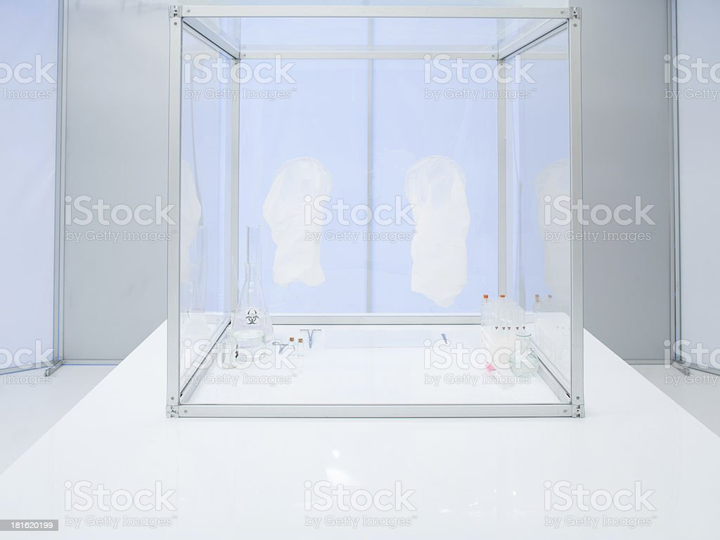sterile chamber inside lab prepared for experiments royalty-free stock photo