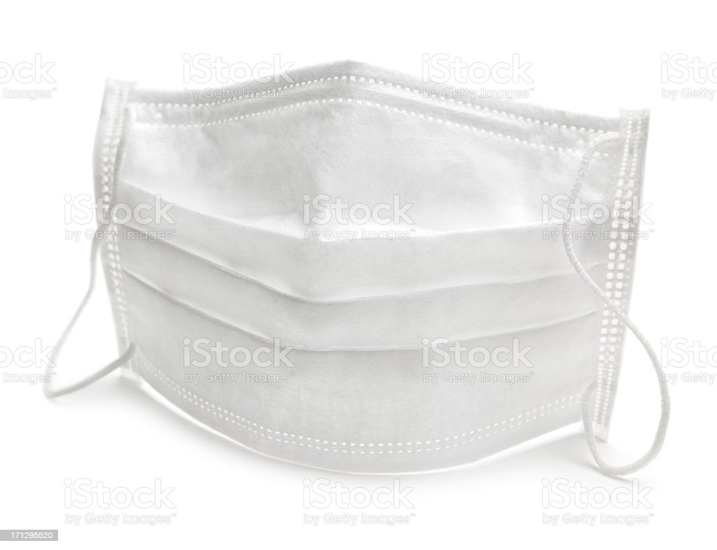 Sterile face mask stock photo