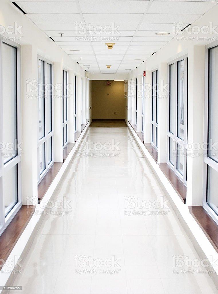 Sterile Hallway royalty-free stock photo
